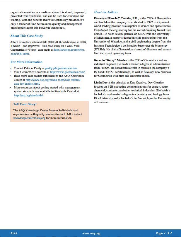 ASQ Article (May 2012):