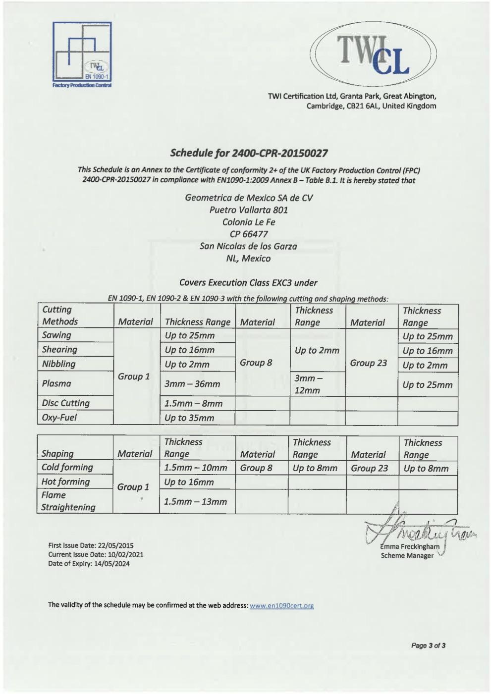 geometrica fpc 1090 certificate cv mexico sa pdf